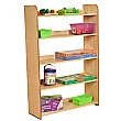 Maple 5 Shelf Bookcase