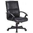 Lyon Medium Back Leather Faced Office Chair