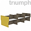 Triumph Rectangular Phonic Acoustic Back To Back 6 Person Pods
