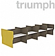 Triumph Rectangular Phonic Acoustic Back To Back 8 Person Pods