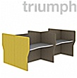 Triumph Double Wave Phonic Acoustic Back To Back 4 Person Pods