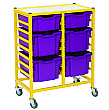 Gratnells Handy Mixed Tray 2 Column Storage Trolley