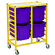 Gratnells Handy Jumbo Tray 2 Column Storage Trolley