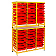 Gratnells Handy Tall Double Unit With Shallow Trays