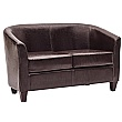 Paisley Bonded Leather Two Seater Sofa