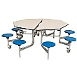 8 Seat Octagonal Mobile Folding Table